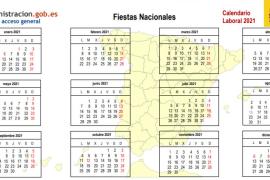 Estos son los festivos y puentes del calendario laboral 2021