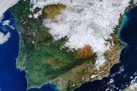 La nevada en España vista desde el espacio