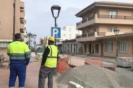 Obras de remodelación y mejora de dos vías en es Pujols