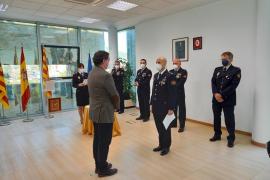 Cuatro oficiales del Cuerpo Nacional de Policía juraron ayer su cargo en Ibiza