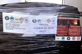 Cinco palés de material humanitario y 3.550 euros para ayudar a refugiados en Grecia