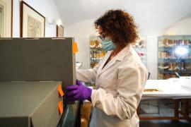 La restauración de los libros de la Universitat en el Arxiu d'Eivissa i Formentera, en imágenes.