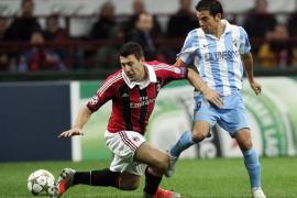 El Málaga se asegura un pase histórico a octavos con un empate en San Siro (1-1)