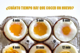 Cuánto tiempo debes cocer un huevo