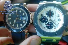 Penas que suman más de siete años de cárcel para una banda del Rolex que robó cinco relojes en 48 horas