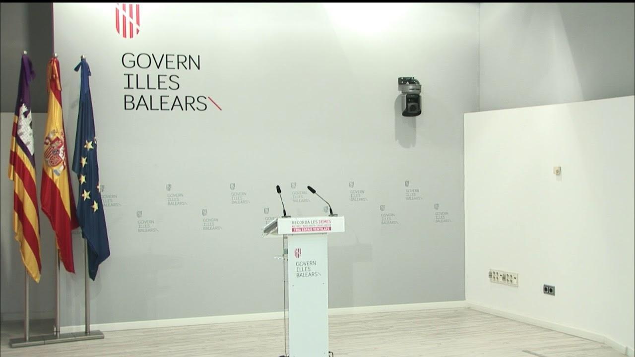 Así ha sido la rueda de prensa de Armengol para explicar los cambios en el Govern