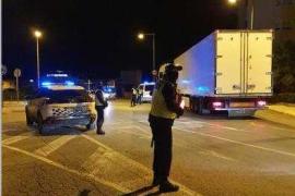 Denunciado un conductor de camión por dar positivo en alcohol y drogas en Ibiza