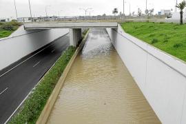 El temporal deja pinos en la carretera de Sant Joan y cierra unas horas la autovía del aeropuerto
