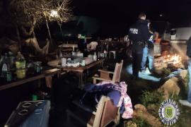 Desmantelada una fiesta en Sant Rafel con 40 personas