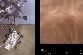La NASA comparte el primer video del Perseverance aterrizando en Marte