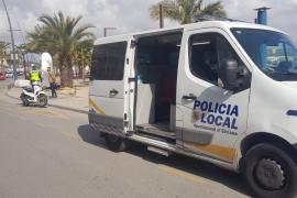 Herida grave al ser atropellada por una moto al cruzar temerariamente en Vila