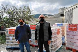 Supermercados Eroski dona 6,5 toneladas de alimentos a Cáritas