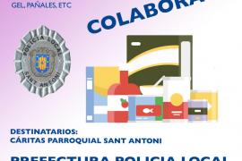 La Policía de Sant Antoni inicia una nueva campaña solidaria de recogida de alimentos
