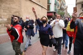 María Garau, la joven falangista identificada en la concentración de 'La Resistencia'