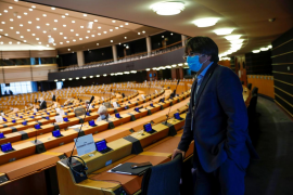 Los eurodiputados de Unidas Podemos votan en contra de levantar la inmunidad a Puigdemont