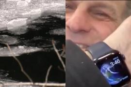 Rescatan a un hombre de morir congelado en un río gracias a su Apple Watch
