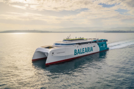 Baleària incorpora a la ruta Dénia-Ibiza-Palma el primer 'fast ferry' del mundo con motores a gas natural