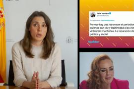 "Irene Montero entra en 'Sálvame' en directo para hablar sobre violencia de género: ""Rocío Carrasco ha sido valiente"""