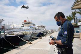 Empiezan a funcionar los drones para evitar las aglomeraciones