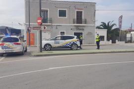 Da positivo en estupefacientes un repartidor de comida de Ibiza en un control policial