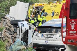 Permanecen hospitalizados los tres heridos graves en un choque frontal en Sant Miquel