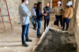 La rehabilitación del viejo Ayuntamiento de Ibiza deja al descubierto la distribución de antiguas dependencias de los dominicos