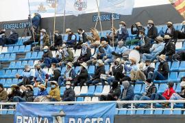 Una imagen de un sector de la grada de Can Misses tomada durante el último partido de la UD Ibiza con público, el 10 de enero