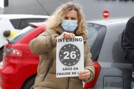 La protesta de los interinos en Ibiza, en imágenes.