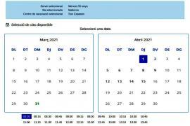 Baleares pondrá en marcha este viernes 'Bitcita', el sistema para solicitar cita por internet para vacunarse