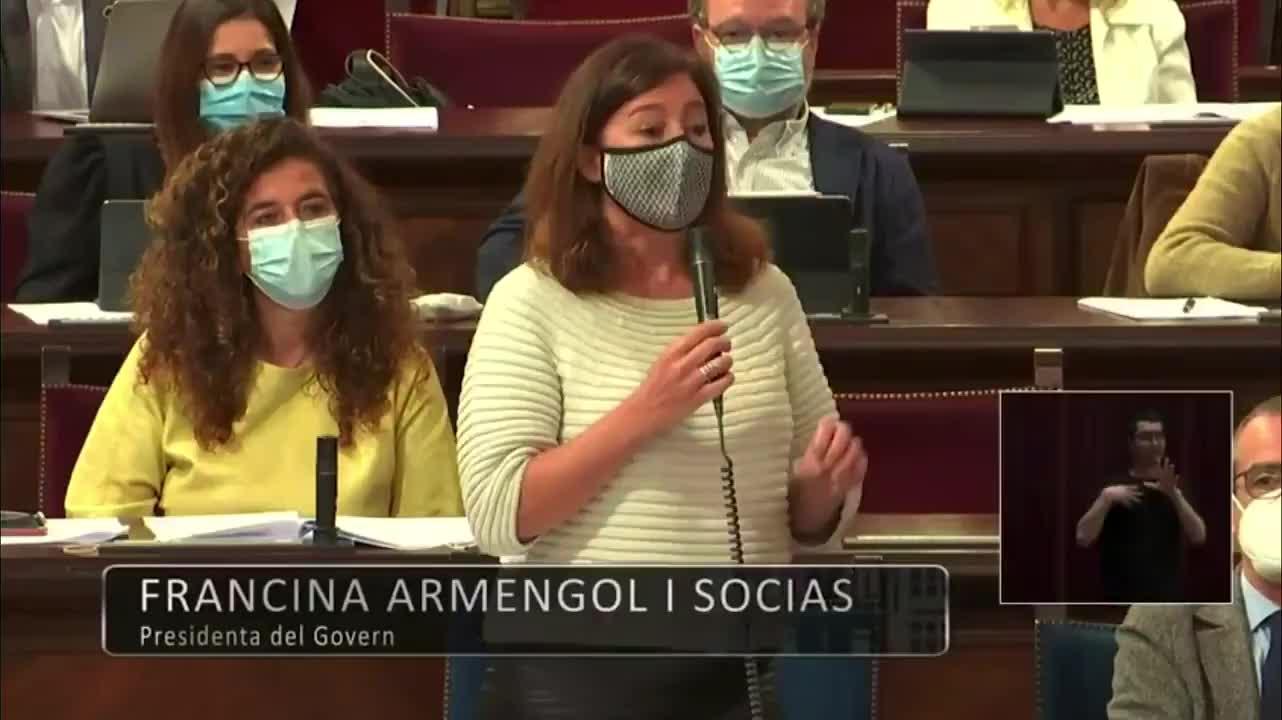 Armengol: «No es cierto que para reactivar el turismo el 70% de la población tenga que estar vacunada en junio»