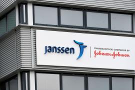 FILE PHOTO: Exterior of Johnson and Johnson's subsidiary Janssen Vaccines in Leiden