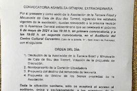 El PP de Sant Josep alerta sobre la disolución del club de mayores de Cala de Bou