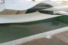 Ordenan la demolición de unas obras ilegales en Sant Josep en las que estaban transformando la piscina en habitaciones