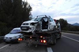 Un herido grave tras un accidente de tráfico a la salida del túnel de Peguera