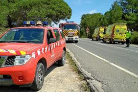 Dos heridos en una colisión múltiple en la carretera de Santa Eulària