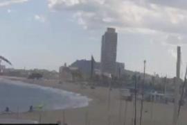 Una tormenta de arena amenaza a Barcelona