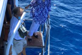 Doña Sofía, el año pasado en alta mar