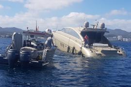 Auxilian a una embarcación que sufrió una vía de agua en la zona de Caló des Moro