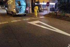 Vila inicia el pintado de las nuevas plazas de aparcamiento en zona azul