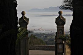 Niebla en el Puig de Bonany, en Mallorca