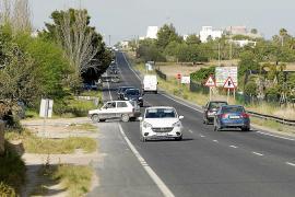 Solicitan medidas de seguridad en un tramo viario de la carretera de Sant Josep