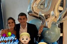 Iker Casillas celebra su cumpleaños junto a Sara Carbonero y sus hijos
