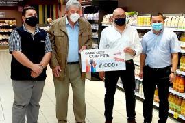 Los clientes de supermercados Eroski donan 7.000 euros a Cáritas de Ibiza y Formentera