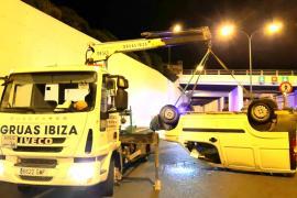 Dos heridos en sendos accidentes de tráfico en Ibiza este sábado