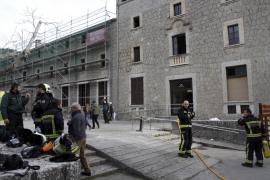 Incendio en el santuario de Lluc en Mallorca