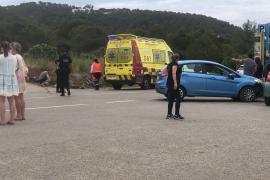 Herido un ciclista tras ser embestido por un coche en la carretera de ses Salines