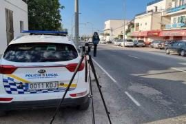 Santa Eulària inicia una campaña de control de velocidad en Ca na Negreta