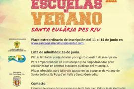 Santa Eulària abre un periodo extraordinario de matriculación para las Escuelas de Verano