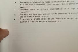 Falta ortográfica en el titular del examen de castellano de este miércoles de la selectividad