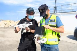 La Policía de Sant Antoni finaliza el curso de formación de piloto profesional de drones